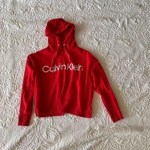 Calvin Klein performance cropped hoodie